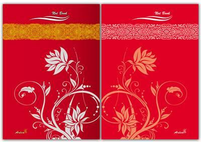 طرح لایه باز جلد دفتر شامل دو فایل(طرح گل) ، طرح لایه باز جلد دفترچه یادداشت