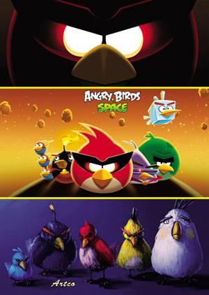 طرح لایه باز جلد دفتر  angry birds