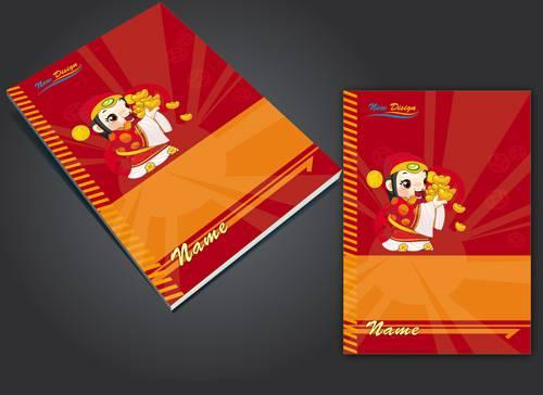 جلد دفتر لایه باز کودکانه طراحی شده با فتوشاپ