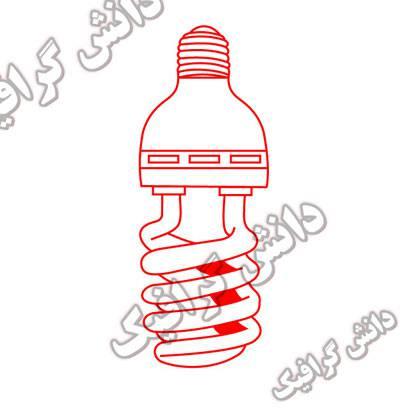 وکتور لامپ برای کورل دراو وفتوشاپ با پسوند CDR